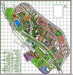 نقشه-اتوکدی-مجموعه-تفریحی-توریستی-و-اقامتی